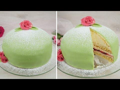 Schwedische Prinzessinnen Torte / Prinsesstårta / Swedish Princess Cake