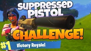 *NEW* Suppressed Pistol ONLY WIN on Fortnite! (Fortnite Pistol Only Challenge Victory Royale!)