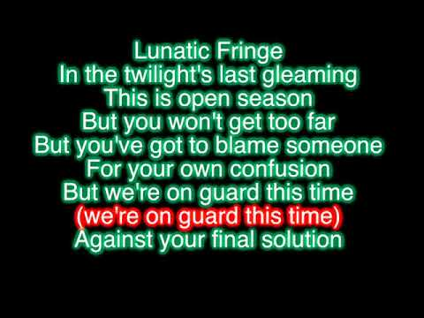 Lunatic Fringe - Red Rider (Karaoke)