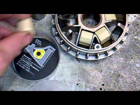 piaggio hexagon exs 125 alte rollen gegen neue dr pulley gleitrollen youtube. Black Bedroom Furniture Sets. Home Design Ideas