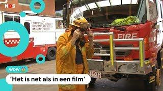 Jeroen helpt met het blussen van de Australische bosbranden