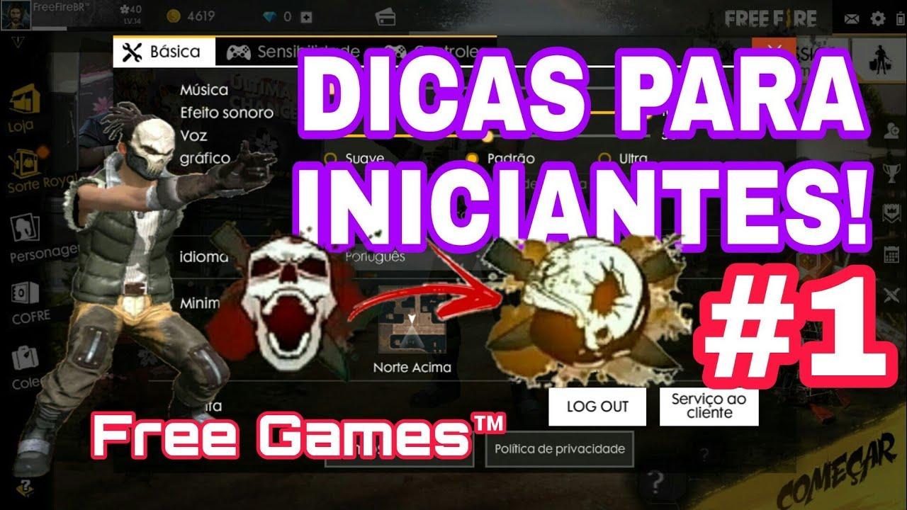 DICAS PARA INICIANTES - FREE FIRE BATTLEGROUNDS