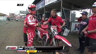 MXGP of Germany 2017 Qualifying Race_Tim Gajser Crash #Motocross
