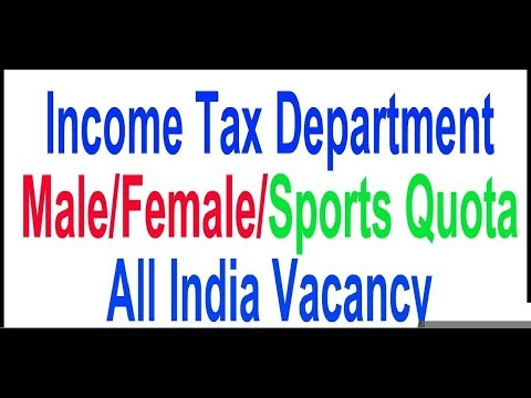 Latest Govt Job Income Tax Department All India Vacancy