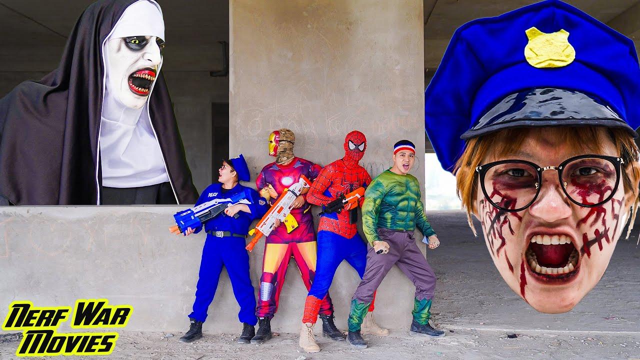 Nerf War Movies:SWAT X Warriors Nerf Guns Fight Criminal Group Defeat Valak & Monster Rescue Friend
