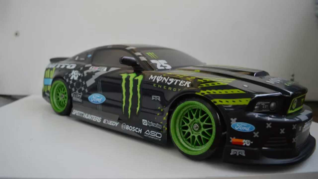 Rc Hpi 2013 Ford Mustang Vaughn Monster Nitto Body Trailer