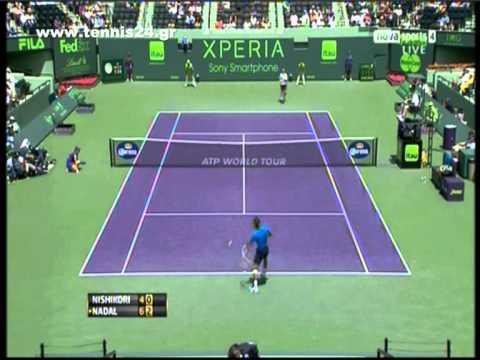 Nadal vs Nishikori Miami Masters 2012