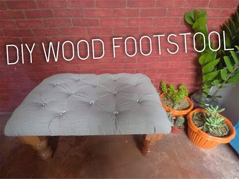 DIY WOOD FOOTSTOOL