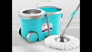 Комплект для уборки: вращающаяся швабра и ведро с отжимом