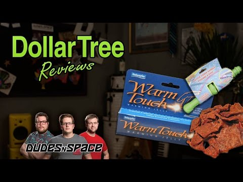Dollar Tree Reviews - Warm Touch Jelly, Beef Steak Jerky, Battle Saber Handle - Dudes N Space
