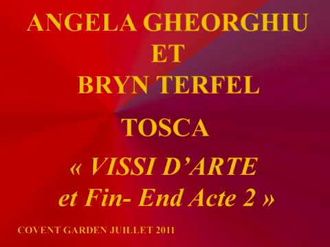 Angela Gheorghiu et Bryn Terfel   Tosca   Acte 2 Fin  End   Covent Garden Juillet 2011