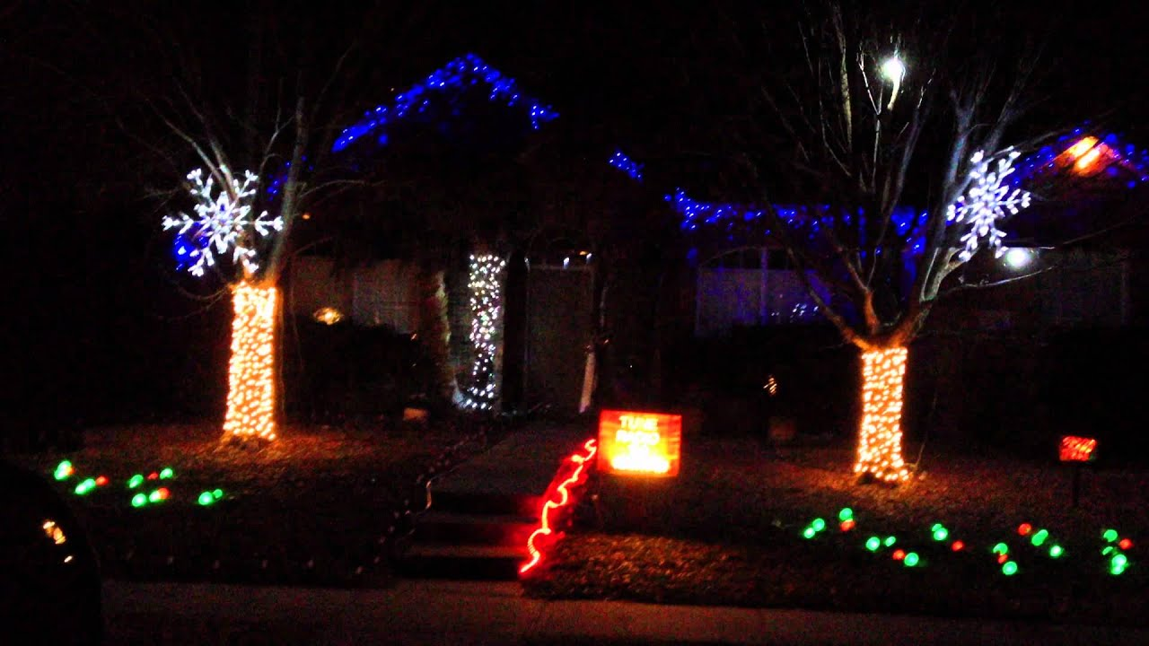 Updated Final 2011 Deck Halls w strobes Frisco Texas Christmas ...