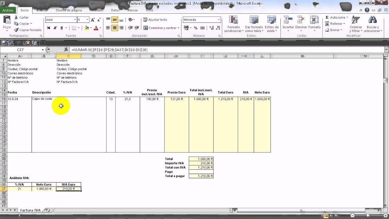 Excel 2010 b sico presupuesto 1 de 2 v deos c mo - Como hacer presupuesto de obra ...