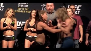 Jessica Eye and Bethe Correia Nearly Brawl at UFC 203 Weigh Ins