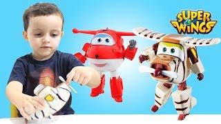 Super Wings Bello Avião Change' Em Up Fun e Jett ToysBR em Portugues 출동슈퍼윙스