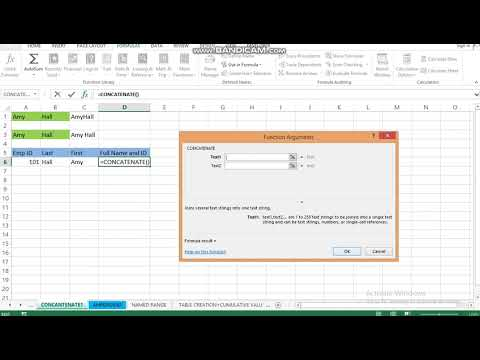 EX 003: How to concatenate in Microsoft Excel