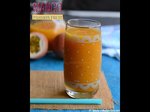 How To Make Mango Passion Fruit Juice Drink