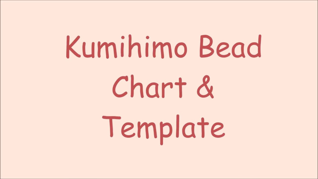How To Use My Ihimo Bead Count Chart And Templates