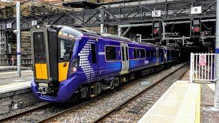 Trains at Glasgow Queen's Street | 11/08/2018