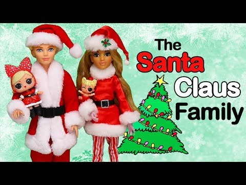 SWTAD LOL Families ! The Santa Claus Family Has New Neighbors | Toys and Dolls Pretend Play for Kids