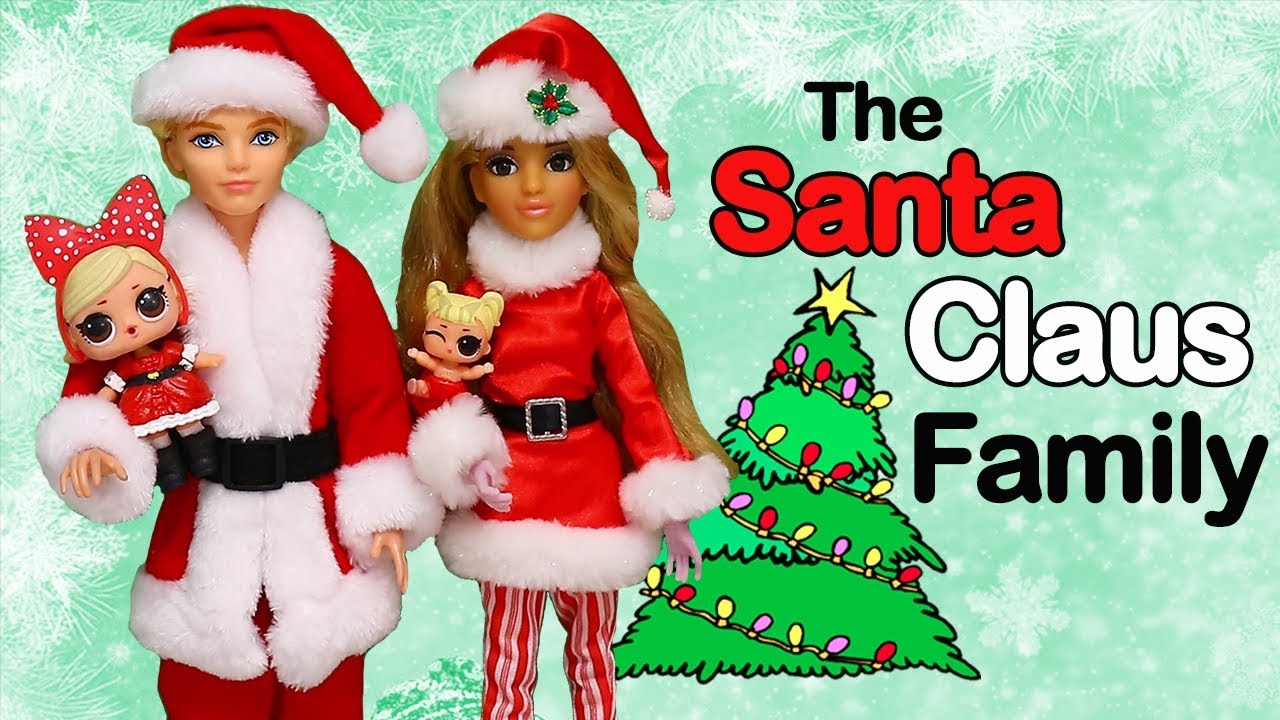 Swtad Lol Families The Santa Claus Family Has New Neighbors Toys And Dolls Pretend Play For Kids
