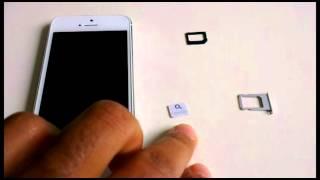 Cut MICRO SIM Card to NANO SIM Card for iPhone 5, SCISSORS ONLY - Make Nano Sim Card yourself