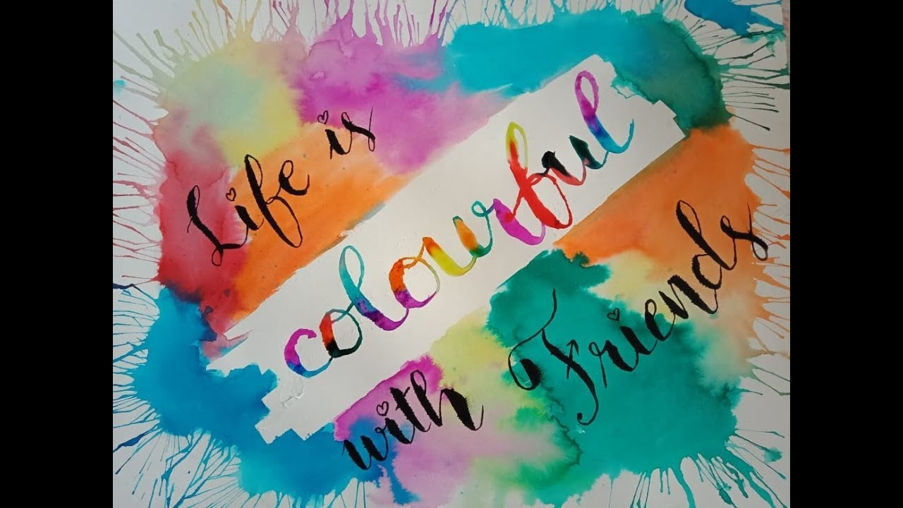friendship quote calligraphy creative background