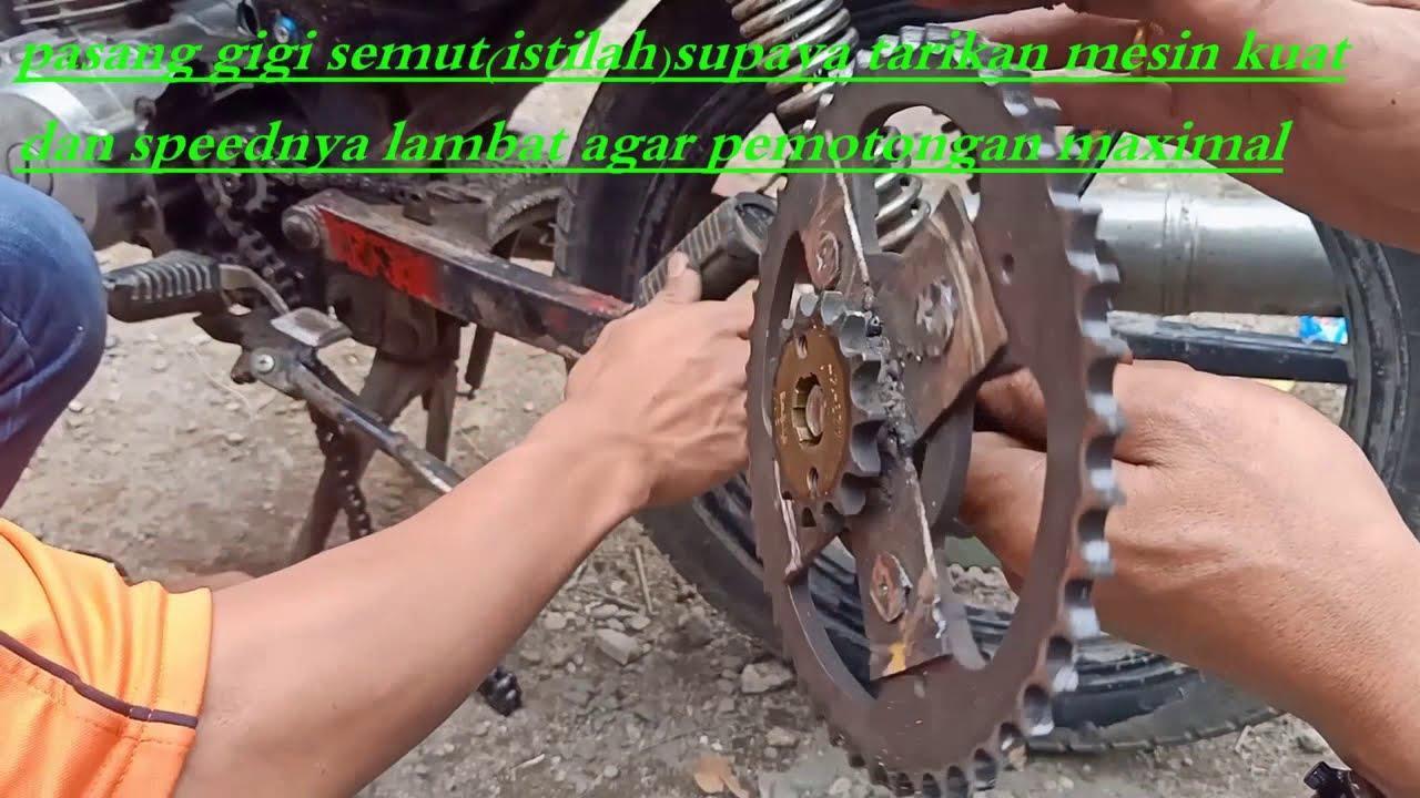 Cara Modifikasi Sepeda Motor Jadi Mesin Potong Rumput Youtube