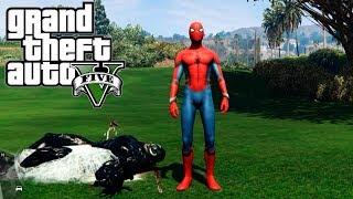 VENOM VS SPIDERMAN EN GTA 5 MODS | GTA 5 MOD SPIDERMAN