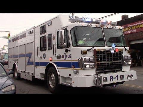 Fair Lawn Fire Department Rescue 1 Responding 3-28-18