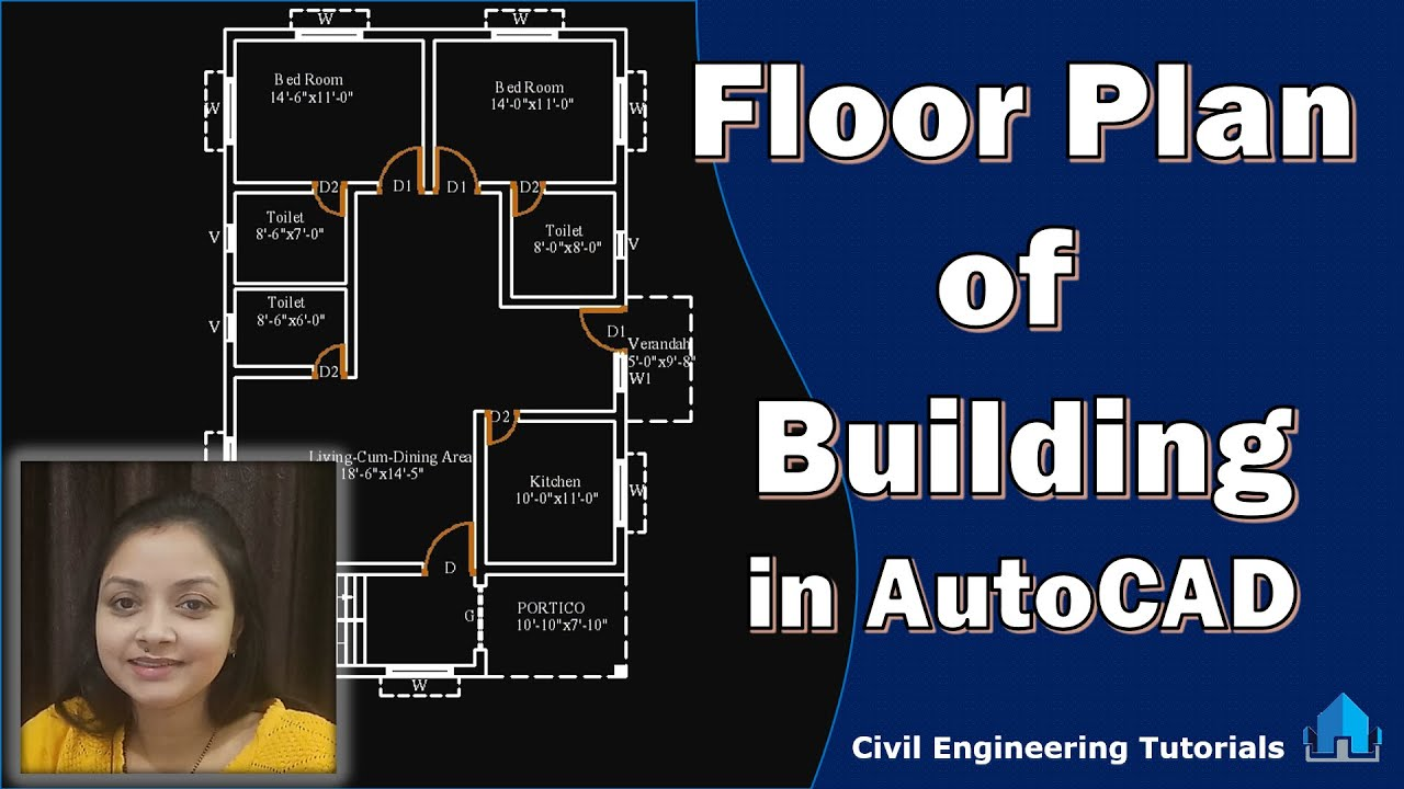 How To Draw A Floor Plan Of A Building In Autocad Building 2