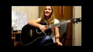 Батарейка - Жуки (cover) Девочка играет на гитаре