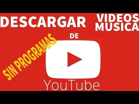 DESCARGAR VIDEOS  DE YOUTUBE EN MP3 O MP4 SIN PROGRAMAS