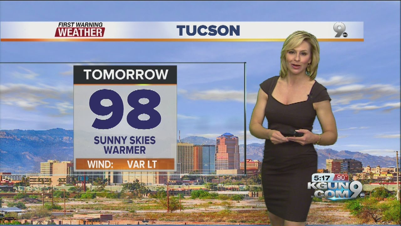 Chief meteorologist erin christiansen s kgun 9 forecast wednesday
