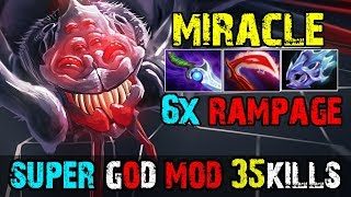 Miracle [Broodmother] 1Vs5 God Mod 6xRAMPAGE 2xUltrakill 35Kills | Dota 2 FullGame