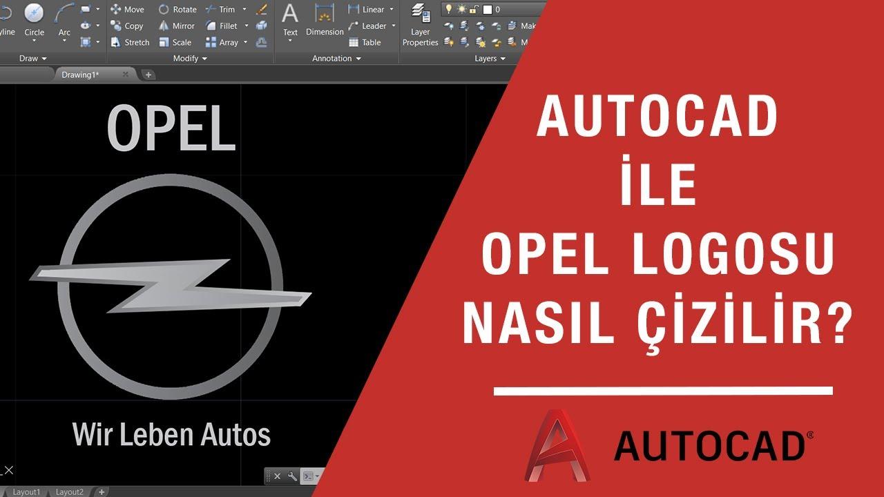 OPEL LOGOSU NASIL ÇİZİLİR? | AUTOCAD LOGO ÇİZİMLERİ #5 | how to draw opel logo in autocad