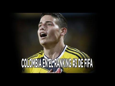 Colombia está entre los 3 primeros del ranking FIFA