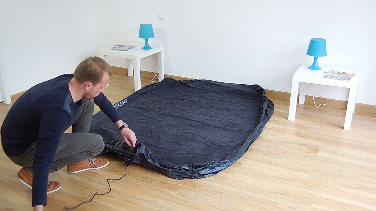 Colchon Hinchable Electrico Intex Rest Bed Fiber Tech 2 Personas