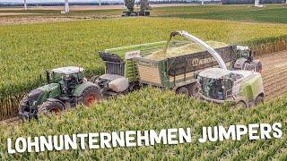 Fendt Traktoren v. Lohnunternehmen Jumpers | Maishäckseln m. Claas Jaguar 980