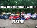 How To Make Power Wheels Go Faster - Convert 12 Volts to 18 Volts Power Wheel Motorcycle