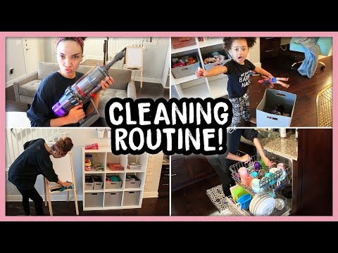 My Sunday Cleaning Routine | HUGE MESS!