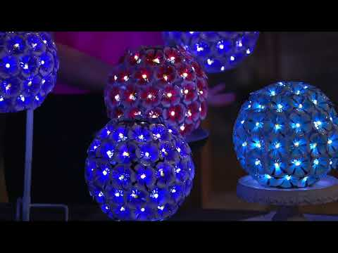 Compass Home Solar Hanging Flower Sphere with 70 LEDs on QVC
