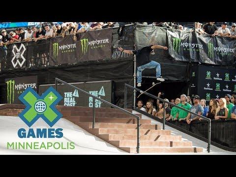 Kelvin Hoefler wins Men's Skateboard Street gold | X Games Minneapolis 2017