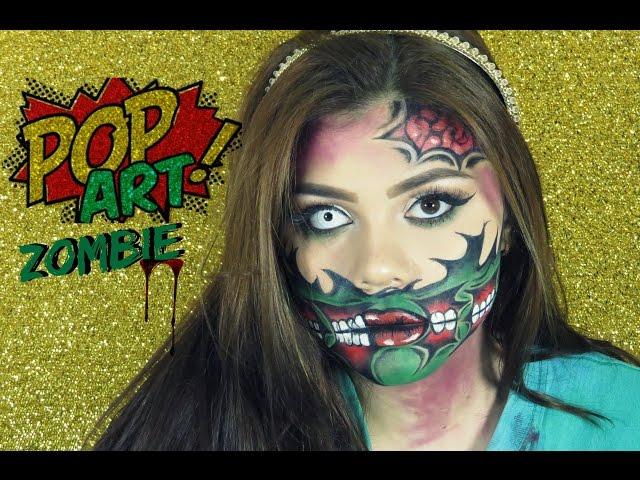 ZOMBIE POP ART?COMIC HALLOWEEN TUTORIAL - Cristina Vives?