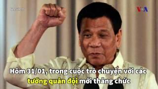 Ông Duterte mời Trung Quốc tuần tra trong hải phận Philippines