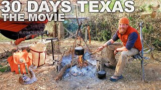 30 Day Survival Challenge - Texas: THE MOVIE (Catch & Cook)