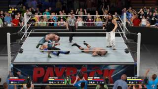 WWE 2k17 PC Gameplay Randy orton vs Bray Wyatt vs AJ Styles vs John Cena Fatal 4 Way