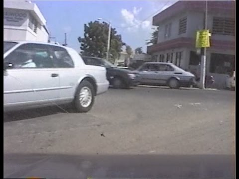 20 century dash camera 1998 car ride Puerto Rico Streets 8mm tape