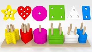 Dopasowywanie kształtów dla dzieci | CzyWieszJak