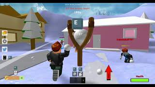 I TOUCHED THE YELLOW SNOW!!!! roblox snow ball fight simulator
